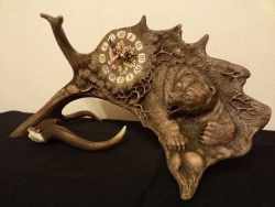 The Bear. Antler table clock